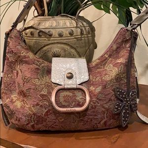Guess Funky Fabric Hobo Bag